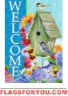 Welcome Birdhouse Garden Flag - 1 left