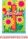 Floral Faith House Flag