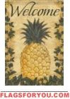 Floral Pineapple House Flag - 1 left