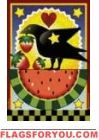 Watermelon & Crow Garden Flag - 1 left