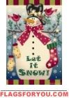 Let it Snow! Snowman House Flag - 1 left