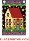 Merry Christmas Salt Box House Flag - 3 left