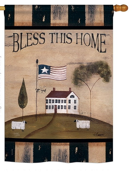Bless This Home House Flag