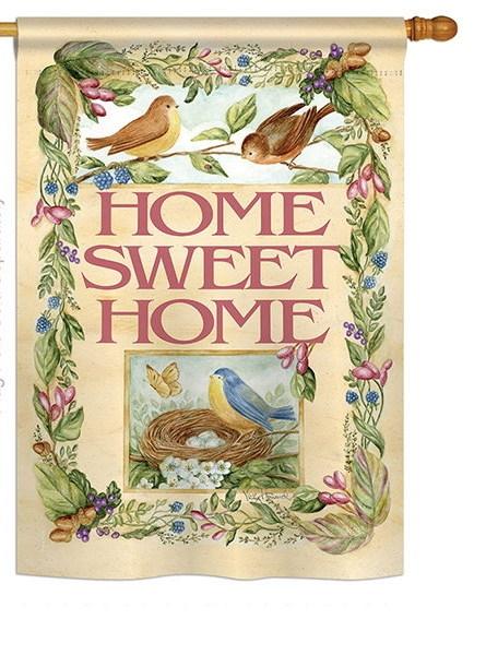 Birds Springtime House Flag