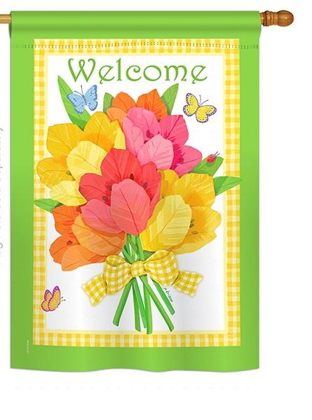 Flower Bouquet House Flag
