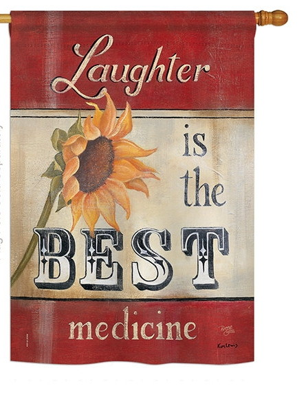 Laughter is the Best Medicine House Flag
