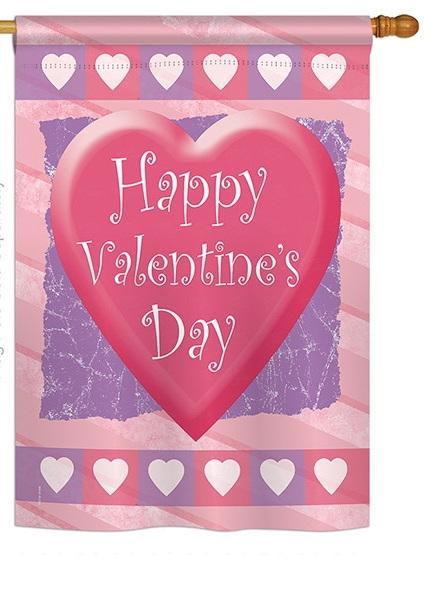 Valentine Heart House Flag