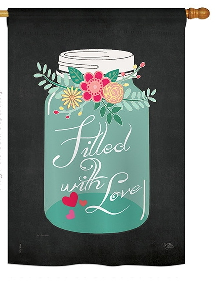 Filled with Love House Flag