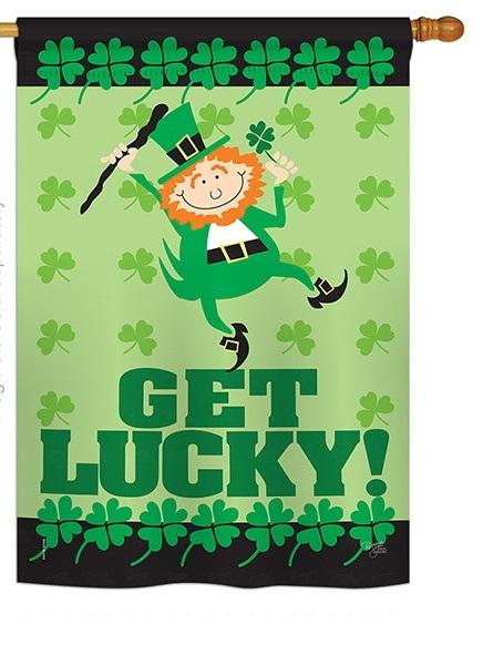 Get Lucky House Flag