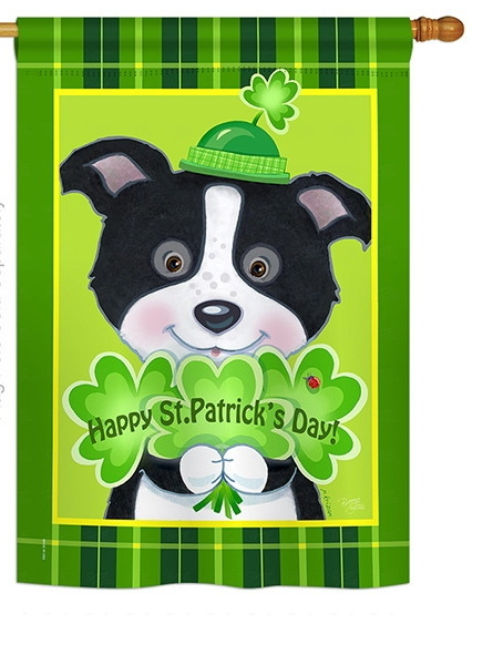 St. Pat's Puppy House Flag