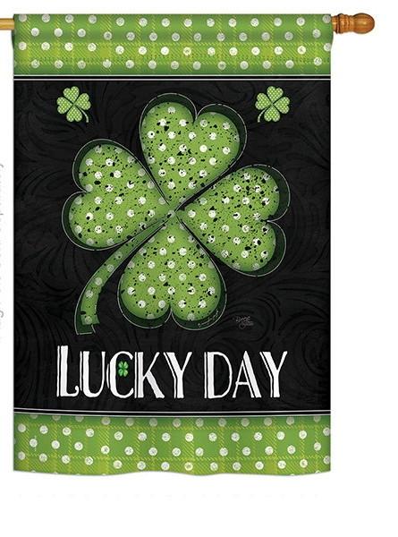 Lucky Day Clover House Flag