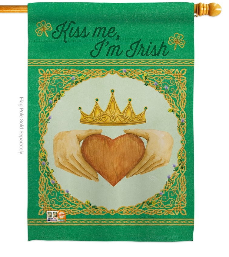 Kiss Me, I'm Irish House Flag