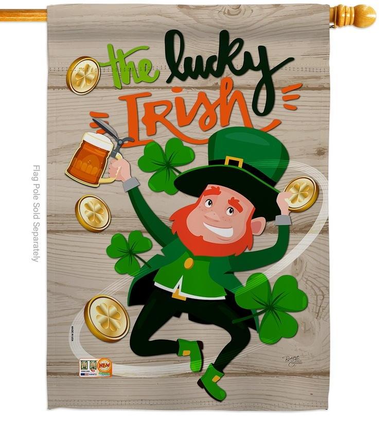 The Lucky Irish House Flag