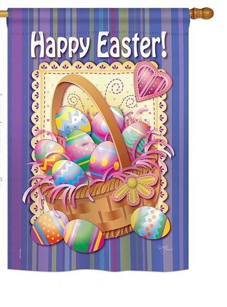 Easter Egg Basket House Flag