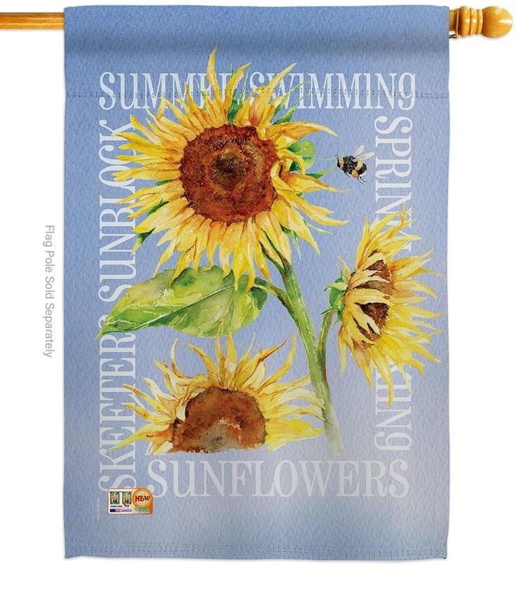 Summer Sunflower Decorative House Flag