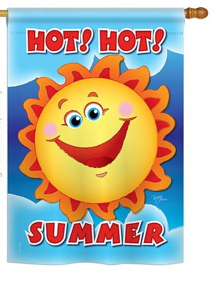 Hot Hot Summer House Flag