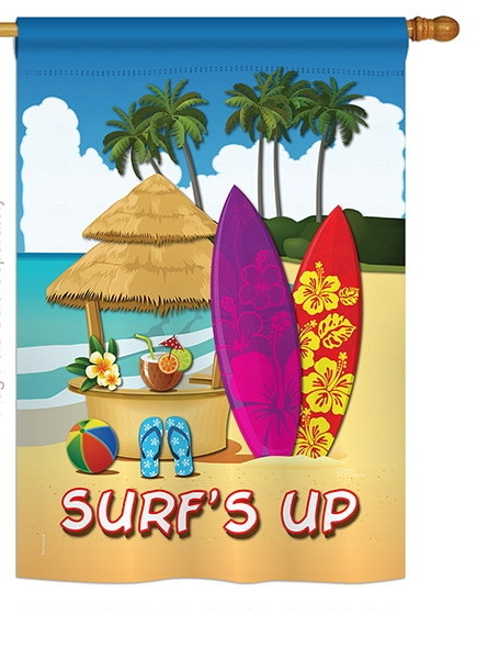 Surf's Up Hut House Flag