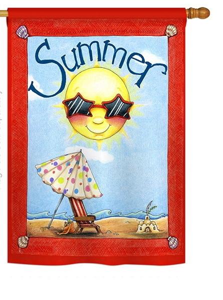 Fun in Summer House Flag