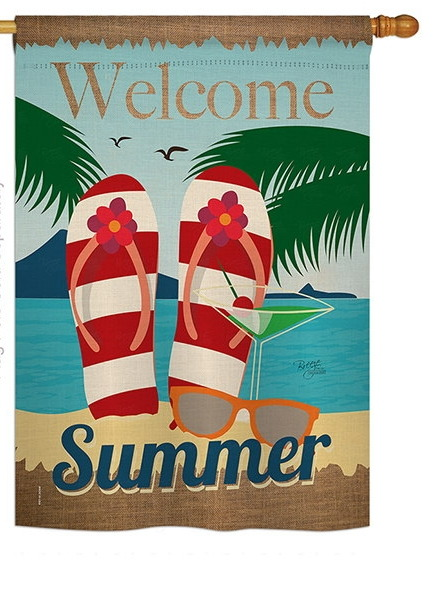 Welcome Summer House Flag