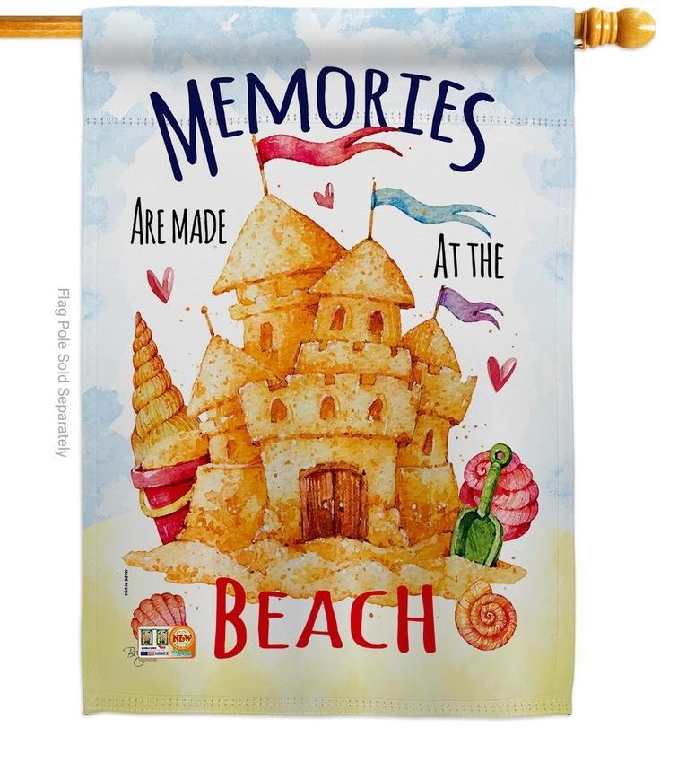 Beach Memories House Flag