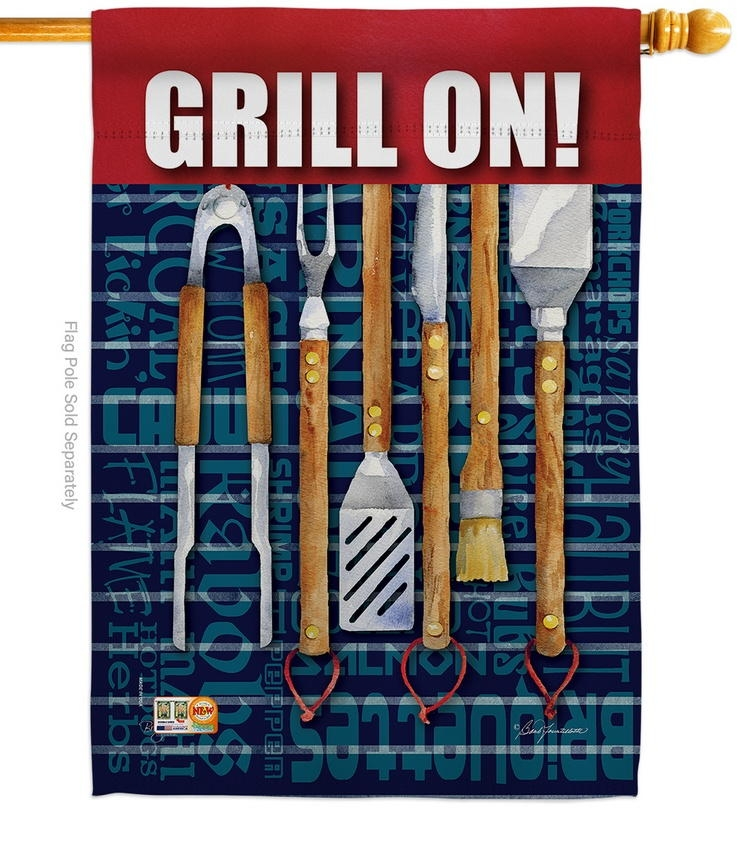 Grill On House Flag