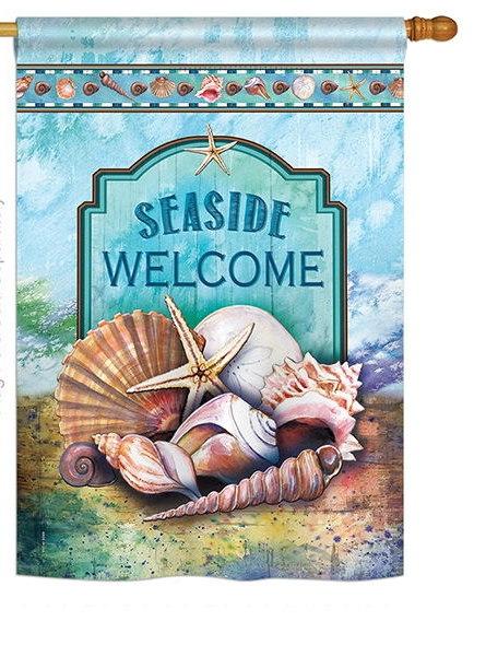 Seaside Shells House Flag