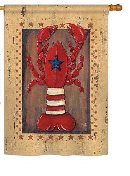 Patriotic Lobster House Flag