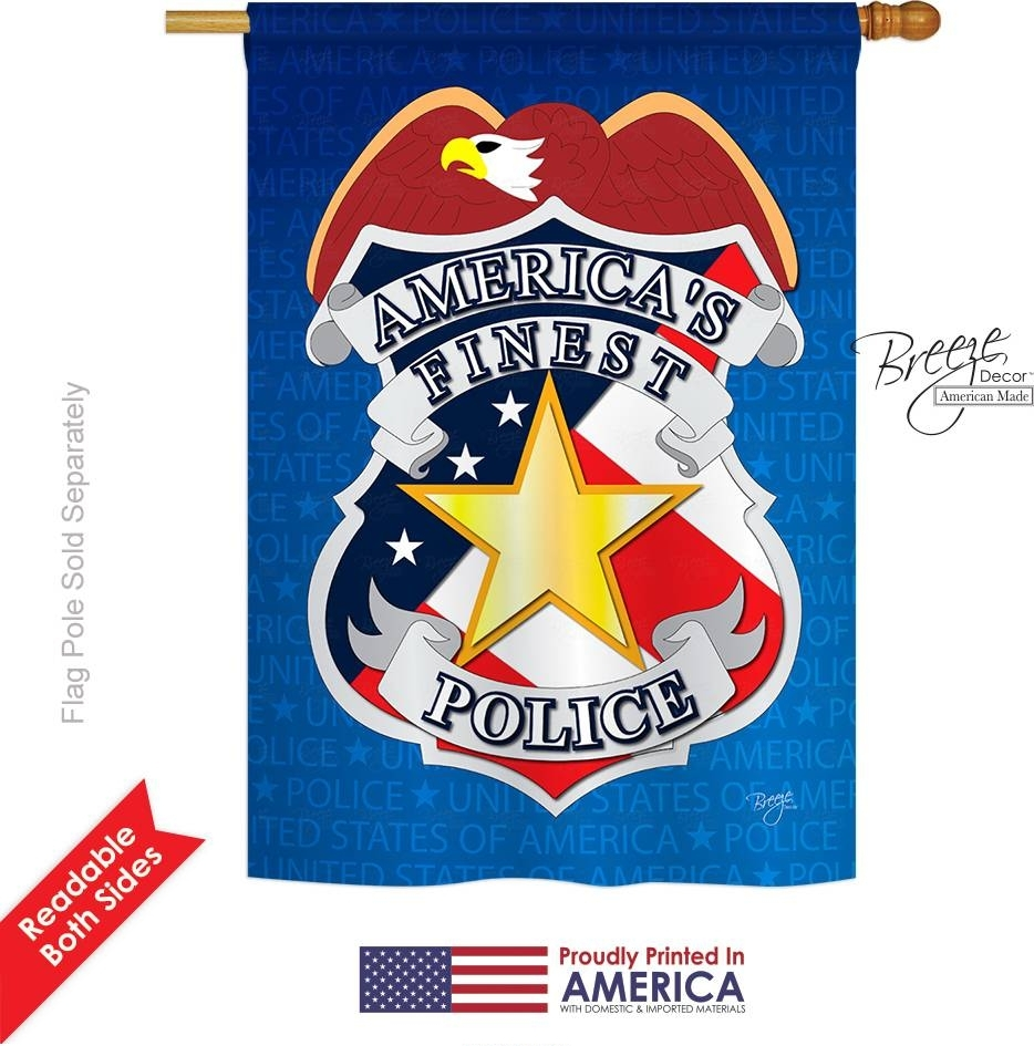 Police Applique House Flag