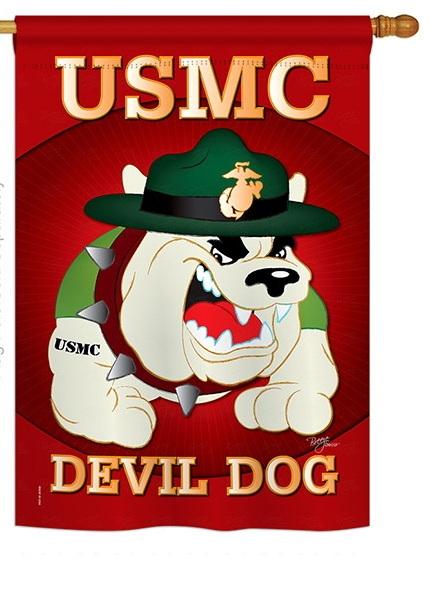 Devil Dog House Flag