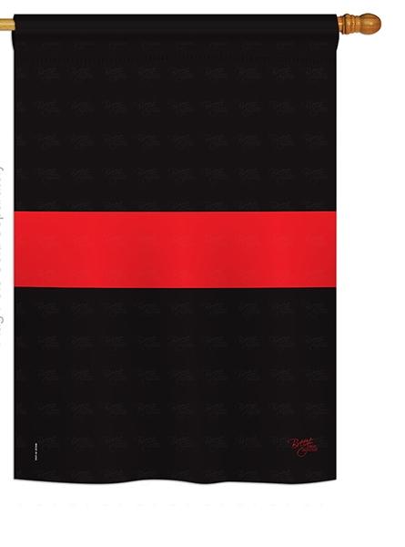 Red Stripe House Flag