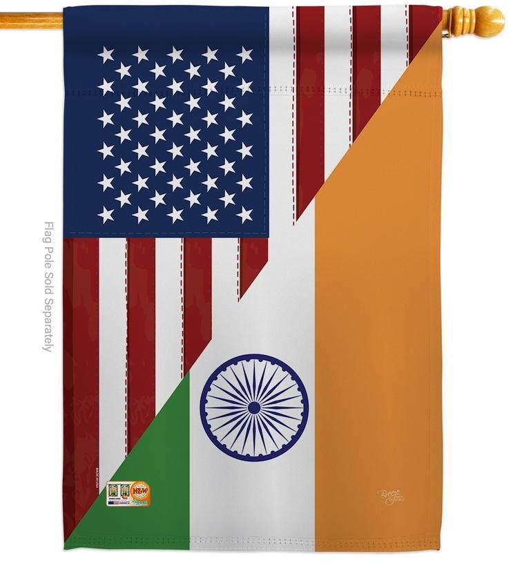 US India Friendship House Flag