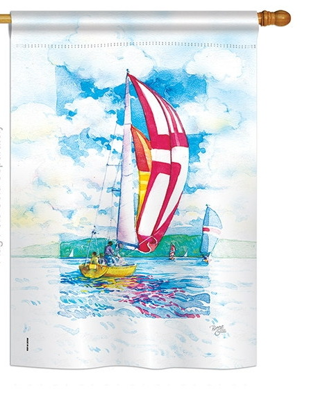 Sailboats House Flag