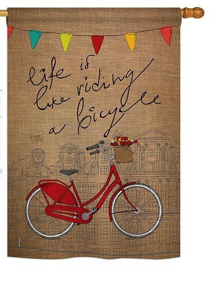 Bicycle Life House Flag