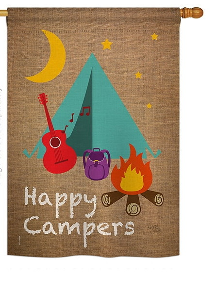 Happy Campers House Flag