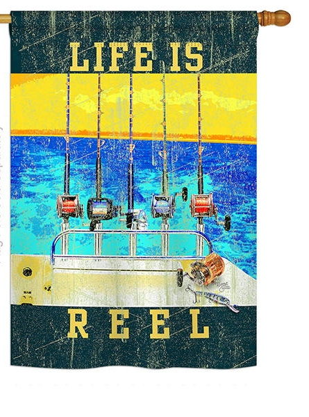 Life Is Reel House Flag