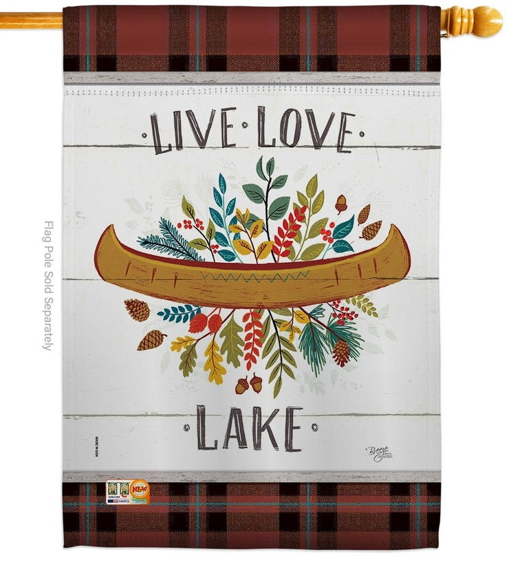 Live Love Lake House Flag