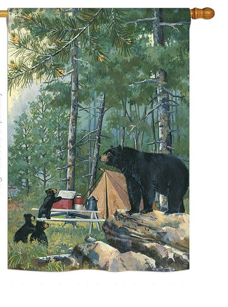 Bears Campsite House Flag