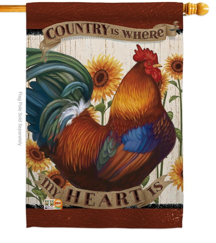 Country My Heart House Flag