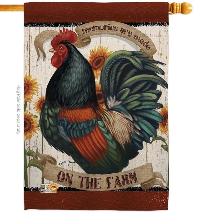 Memories On The Farm House Flag