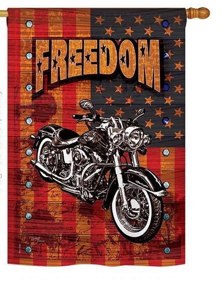 Americana Motorcycle Banner House Flag
