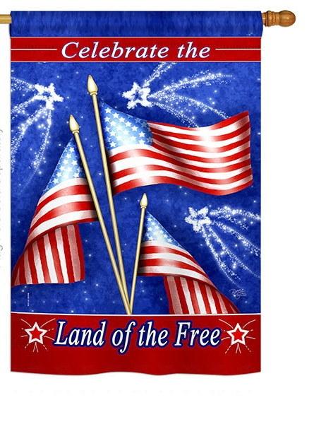 Celebrating Freedom House Flag