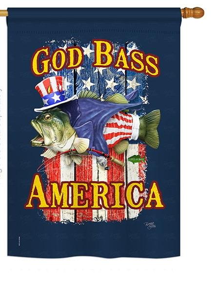 God Bass America House Flag