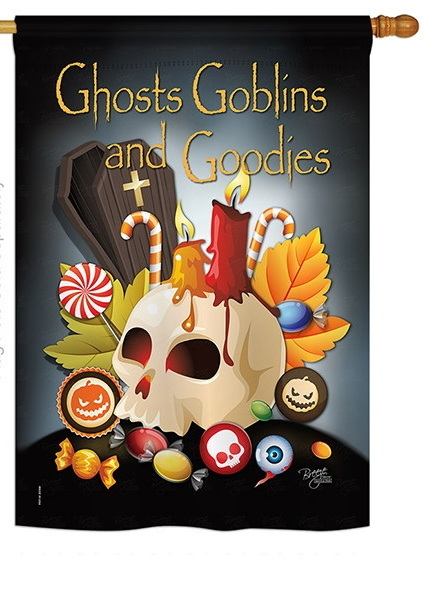 Ghosts Goblins and Goodies House Flag