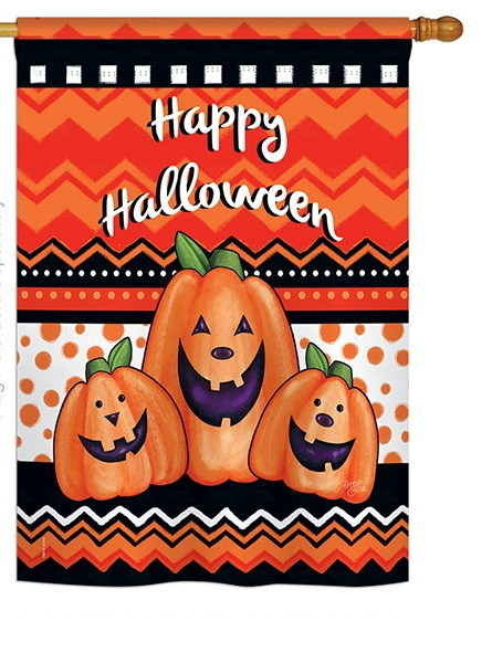 Halloween Trio House Flag