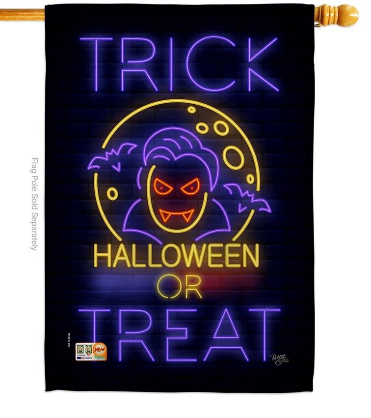 Halloween Dracula House Flag