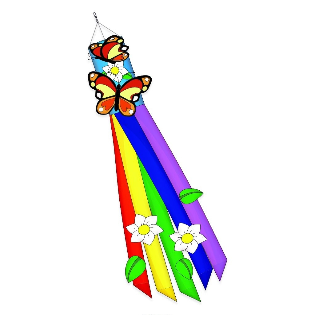 "Butterfly Applique Windsock 12"" x 60"""