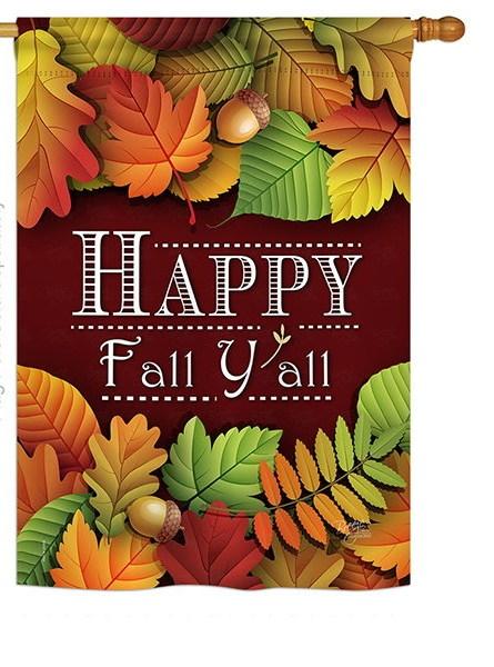 Happy Fall Y All House Flag