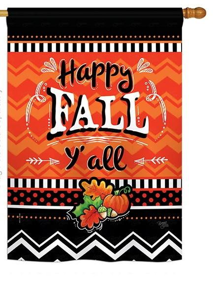 Happy Fall House Flag
