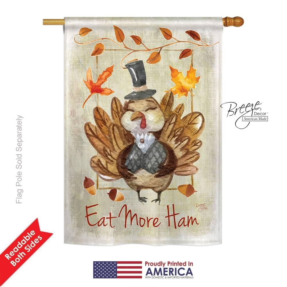 Eat More Ham House Flag