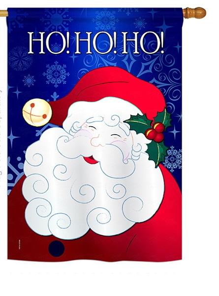 Santa Ho Ho Ho House Flag